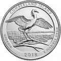 Quarter Dollar 2018 USA Cumberland Island National Seashore 44th Park, mint mark D