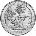 Quarter Dollar 2018 USA Pictured Rocks National Lakeshore 41th Park, mint mark P