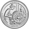 25 cents Quarter Dollar 2019 USA Lowell 46th Park, mint mark S