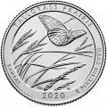 25 центов 2020 США Таллграсс Прейри (Tallgrass Prairie), 55-й парк, двор S
