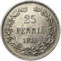 25 pennia 1916 Finland, from circulation VF
