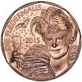 5 евро 2015 Австрия Летучая мышь