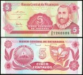 5 Centavo, Nicaragua, 1991, XF, banknote