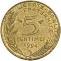 5 сантимов 1994 Франция, из обращения