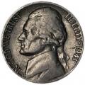 5 центов 1941 США, S, из обращения