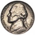 5 центов 1952 США, S, из обращения