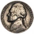 5 центов 1953 США, S, из обращения