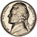Nickel five cents 1961 US, P