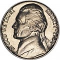 Nickel five cents 1964 US, P