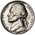 5 cents (Nickel) 1989 USA, D