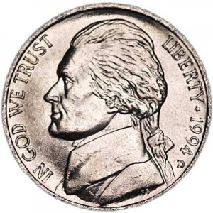5 cents (Nickel) 1994 USA, D