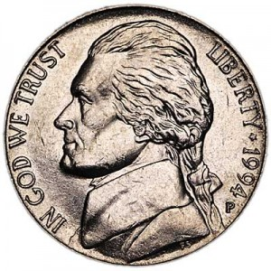 5 cents (Nickel) 1994 USA, P