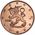 5 центов 2000 Финляндия, UNC