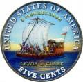 5 центов 2004 США Корабль (цветная)