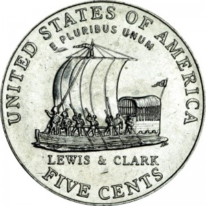 5 cents 2004 USA Keelboat, Westward Journey Series, mint D