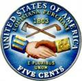 5 центов 2004 США Покупка Луизианы (цветная)