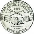 5 центов 2004 США Покупка Луизианы, двор D