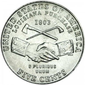 5 cents 2004 USA Louisiana Purchase, Westward Journey Series, mint mark P
