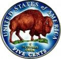 5 центов 2005 США Бизон (цветная)