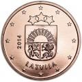 5 центов 2014 Латвия, UNC