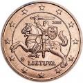 5 центов 2015 Литва, UNC
