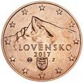 5 центов 2017 Словакия, UNC