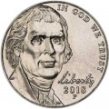 5 cents (Nickel) 2018 USA, P