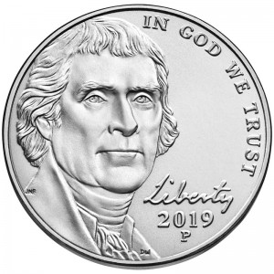 5 cents (Nickel) 2019 USA, P
