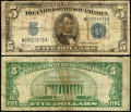 5 dollars 1934 C USA certificate with blue seal, Banknote, VG