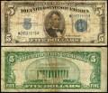5 долларов 1934 C США серебряный сертификат с синей печатью, банкнота, VG