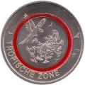 5 евро 2017 Германия, Тропическая зона