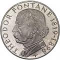 5 марок 1969, Теодор Фонтане, серебро