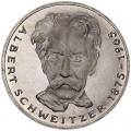 5 марок 1975, Альберт Швейцер, серебро