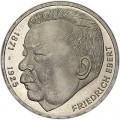 5 марок 1975, Фридрих Эберт, серебро