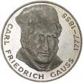 5 марок 1977, Карл Фридрих Гаусс, серебро