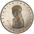 5 марок 1977, Генрих фон Клейст, серебро