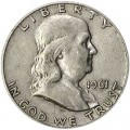 Half Dollar 1961 USA Franklin D, Silber