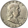 Half Dollar 1961 USA Franklin P, Silber