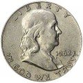 Half Dollar 1962 USA Franklin D, Silber