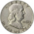 Half Dollar 1962 USA Franklin P, Silber