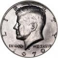 50 центов 1970 США Кеннеди двор D, серебро