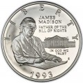 50 Cent 1993  USA James Madison. Bill von Rechten, Silber Proof