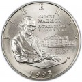 50 Cent 1993  USA James Madison. Bill von Rechten, Silber UNC