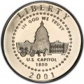 Half Dollar 2001 USA Capitol Visitor Center Proof