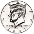 Half Dollar 2007 USA Kennedy mint mark P