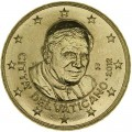 50 центов 2012 Ватикан, Бенедикт XVI, UNC