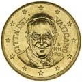 50 центов 2014 Ватикан, Франциск I, UNC