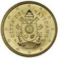 50 центов 2017 Ватикан, герб Франциска I, UNC