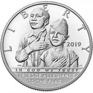 50 cents 2019 American Legion 100th Anniversary Proof Clad, proof