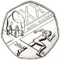 50 pence 2014 United Kingdom Commonwealth Games 2014. Glasgow
